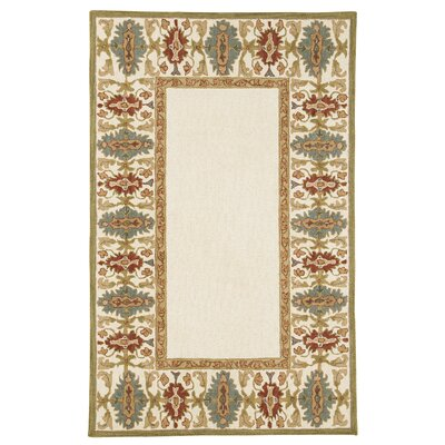 Mornes Hand-Tufted Cream Area Rug Rug Size: 5 x 76