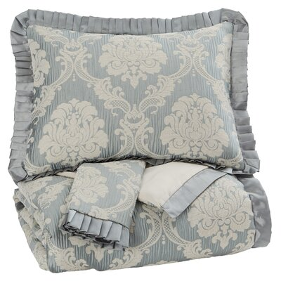 Treville 3 Piece Comforter Set Size: Queen