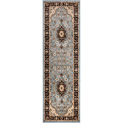 Belliere Medallion Traditional Blue Area Rug Rug Size: Runner 27 x 910