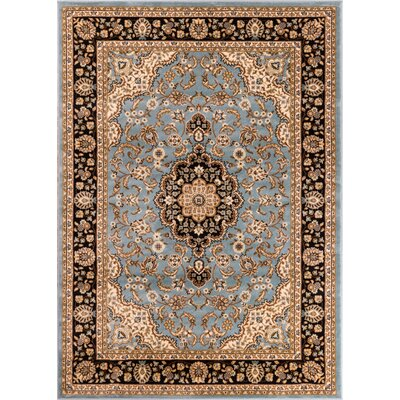 Belliere Medallion Traditional Light Blue Area Rug Rug Size: Rectangle 23 x 311