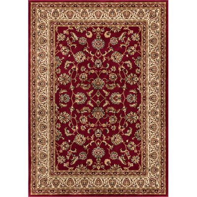 Belliere Sarouk Border Red Area Rug