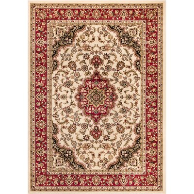Belliere Medallion Ivory Area Rug Rug Size: Rectangle 710 x 910