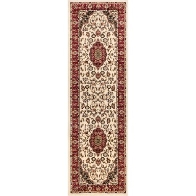 Belliere Medallion Ivory Area Rug Rug Size: Runner 23 x 73