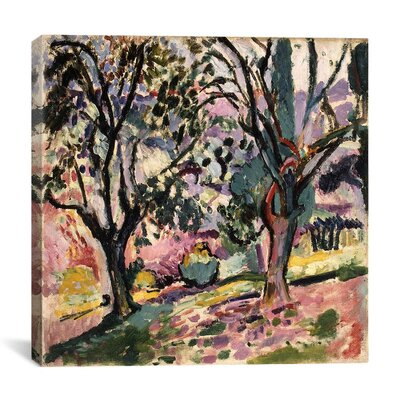 Promenade Among the Olive Trees (1906) Painting Print on Canvas Size: 12