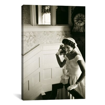 Wedding Dress of Jacqueline Bouvier (Kennedy) Photographic Print on Wrapped Canvas Size: 12