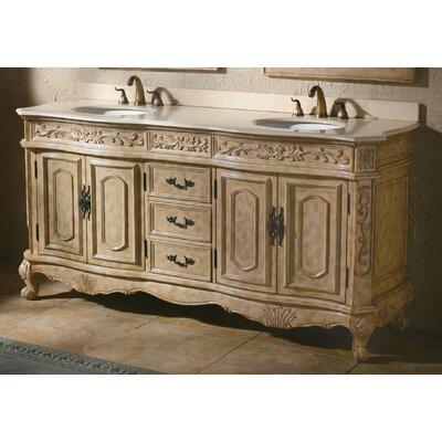 Vendome 72 Double Antique Parchment Bathroom Vanity Set