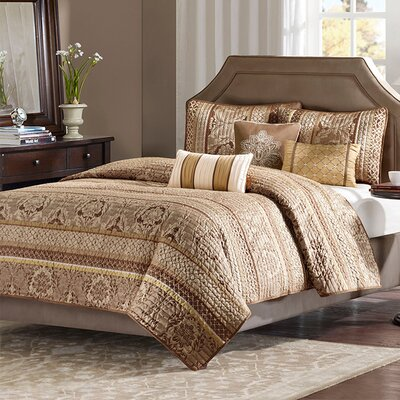 6 Piece Reversible Coverlet Set Size: King