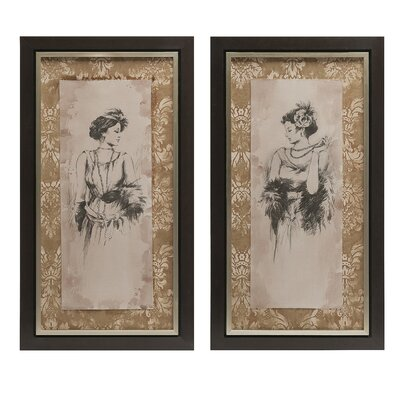 'Bianca' 2 Piece Framed Graphic Art Set