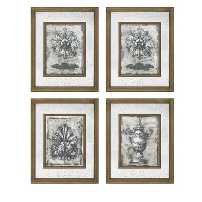 'Mirror' 4 Piece Graphic Art Set