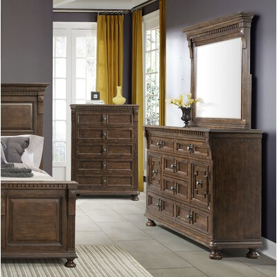Annie 5 Drawer Chest with Mirror