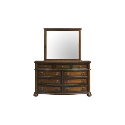 Alvina 9 Drawer Dresser with Mirror