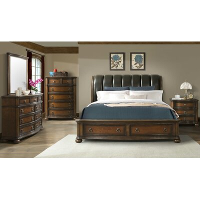 Alvina Storage Sleigh Configurable Bedroom Set