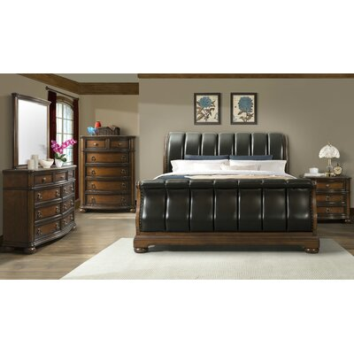 Alvina Sleigh Customizable Bedroom Set