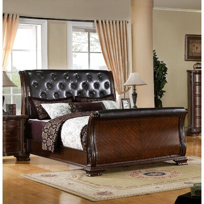 Anderson Upholstered Sleigh Bed Size: California King