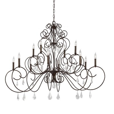 Byrone 12-Light Candle-Style Chandelier