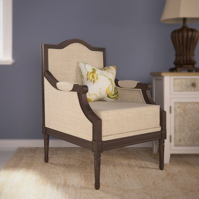 Val Linen Arm Chair