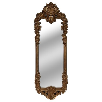 Rectangle Gold Leaning Mirror