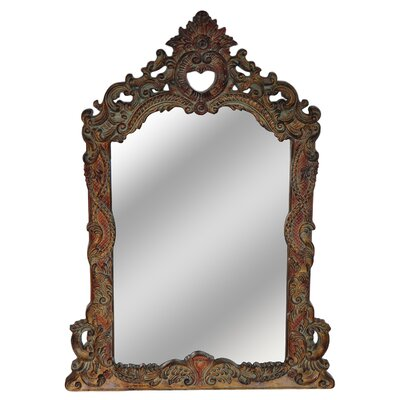 Arch/Crowned Top Brown Mirror