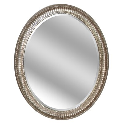 Oval Light Brown Wall Mirror