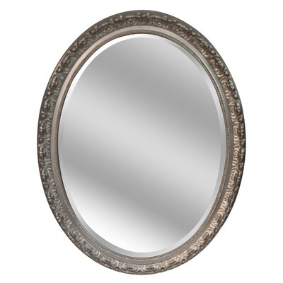Oval Dark Brown Wall Mirror