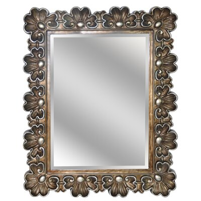 Rectangle Flowered Accent Wall Mirror