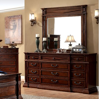 Blair 12 Drawer Dresser with Mirror