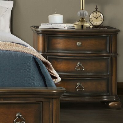 Alvina 3 Drawer Nightstand