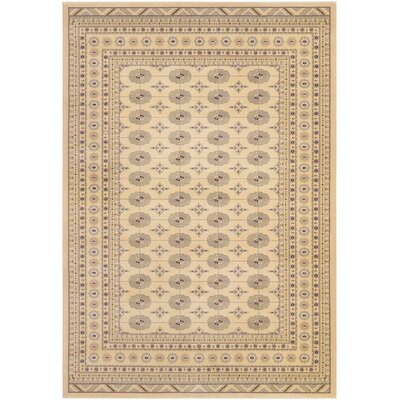 Hyatt Cream Area Rug Rug Size: 92 x 129