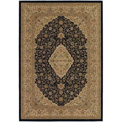 Belcourt All Over Heriz Black/Brown Area Rug Rug Size: Runner 27 x 710
