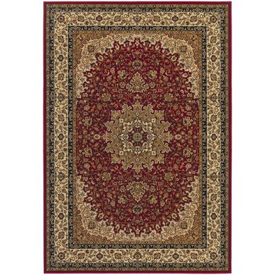 Belcourt Royal Kashan Red/Brown Area Rug Rug Size: Rectangle 2 x 311