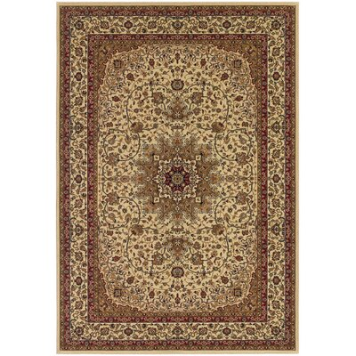 Belcourt Royal Kashan Ivory/Brown Area Rug Rug Size: Rectangle 2 x 311