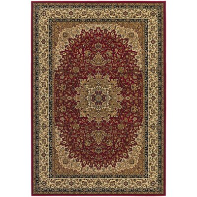 Belcourt Royal Kashan Red/Brown Area Rug Rug Size: Rectangle 92 x 126