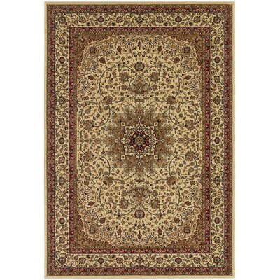 Belcourt Royal Kashan Ivory/Brown Area Rug Rug Size: 311 x 53