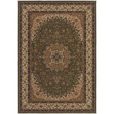 Belcourt Royal Kashan Green/Brown Area Rug Rug Size: Rectangle 2 x 311