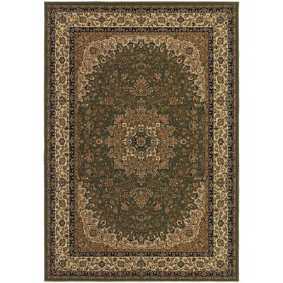 Belcourt Royal Kashan Green/Brown Area Rug Rug Size: Runner 27 x 710