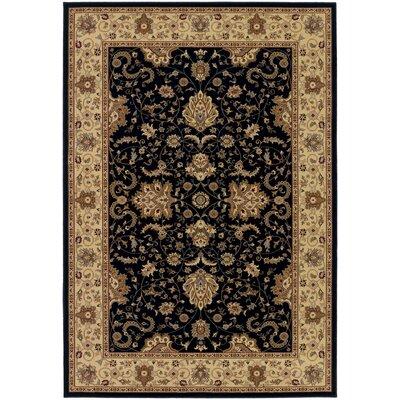 Belcourt Floral Black Area Rug Rug Size: 311 x 53