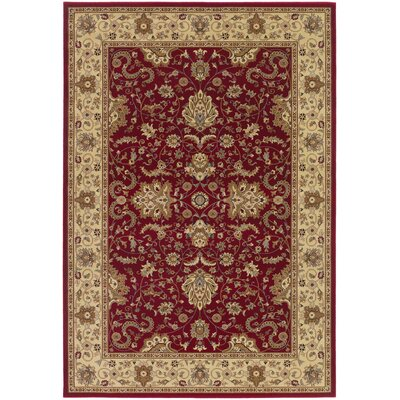 Belcourt Floral Red Area Rug Rug Size: Rectangle 2 x 311