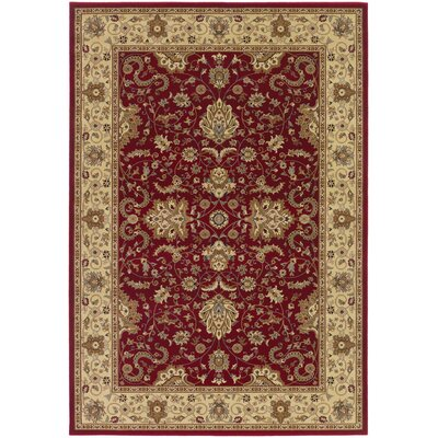 Belcourt Floral Red Area Rug Rug Size: Runner 27 x 71