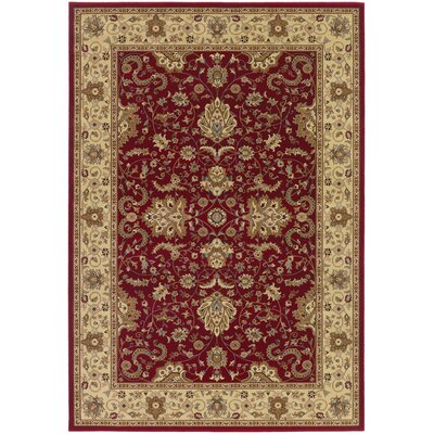 Belcourt Floral Red Area Rug Rug Size: 311 x 53