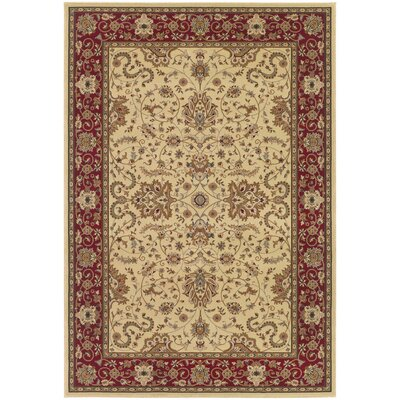 Belcourt Floral Ivory Area Rug Rug Size: Rectangle 2 x 311
