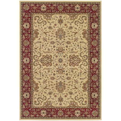 Belcourt Floral Ivory Area Rug Rug Size: Rectangle 53 x 76
