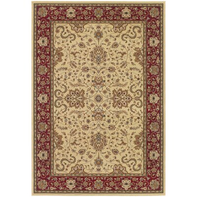Belcourt Floral Ivory Area Rug Rug Size: Runner 27 x 710