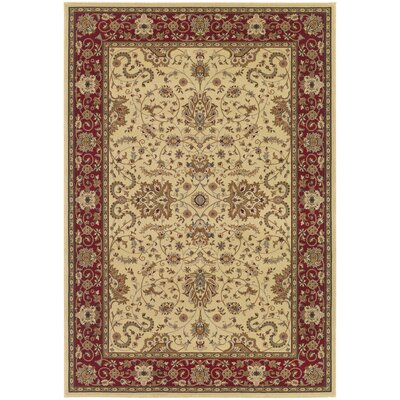 Belcourt Floral Ivory Area Rug Rug Size: Rectangle 311 x 53