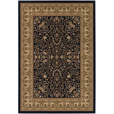 Belcourt Floral Black/Brown Area Rug Rug Size: 710 x 112