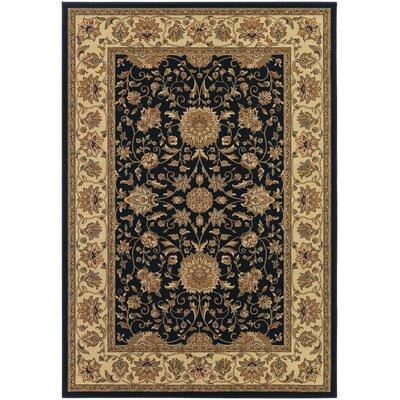 Belcourt Floral Black Area Rug Rug Size: Runner 27 x 710