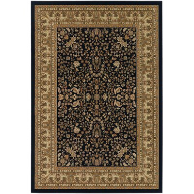 Belcourt Floral Black/Brown Area Rug Rug Size: Rectangle 710 x 112