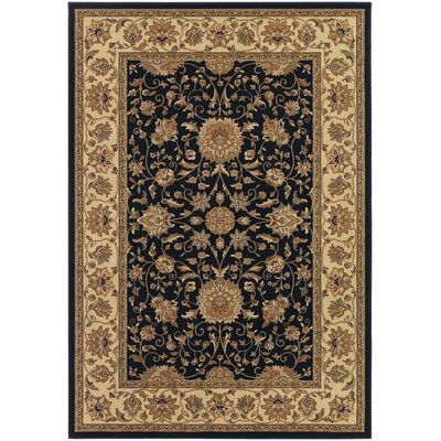 Belcourt Floral Black Area Rug Rug Size: Rectangle 311 x 53