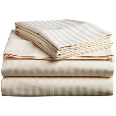 Albore Sheet Set Size: King, Color: Beige
