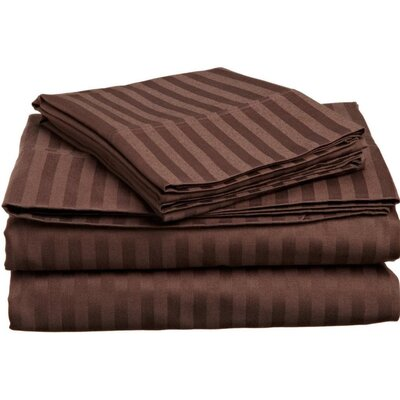 Albore Sheet Set Size: Queen, Color: Brown