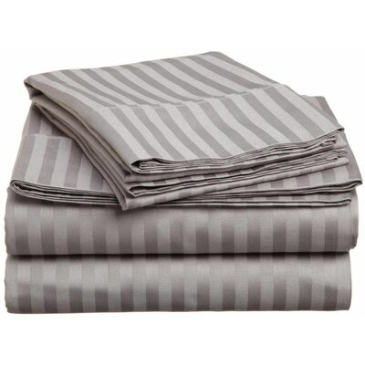 Albore 1800 Thread Count Sheet Set Color: Gray, Size: King